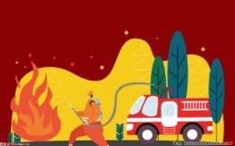 """消防员钻车底救出被困司机 13吨快递险些""""葬身火海"""""""